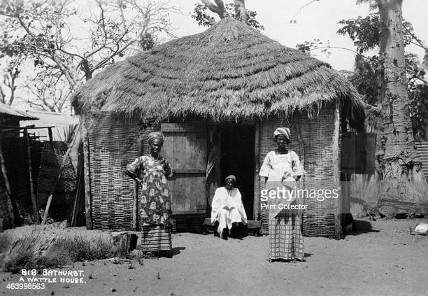 Wattle house, Bathurst, Gambia, 20th century. Bathurst is now known as Banjul.