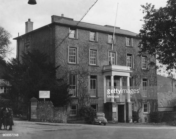 Watton Mount Building County Council offices in Brecon a market town and community in Powys Mid Wales 24th February 1954