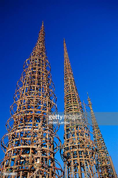 watts towers - tower stock pictures, royalty-free photos & images
