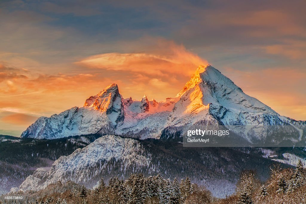 Watzmann at Sunrise - Alps : Stock Photo