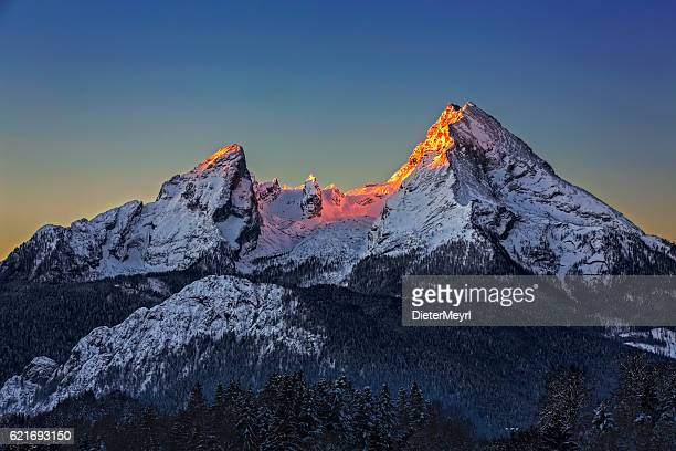 Watzmann at Sunrise in Winter
