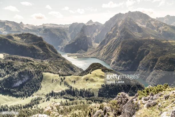 watzmann mountain in bavaria, usa. - berchtesgaden stock photos and pictures