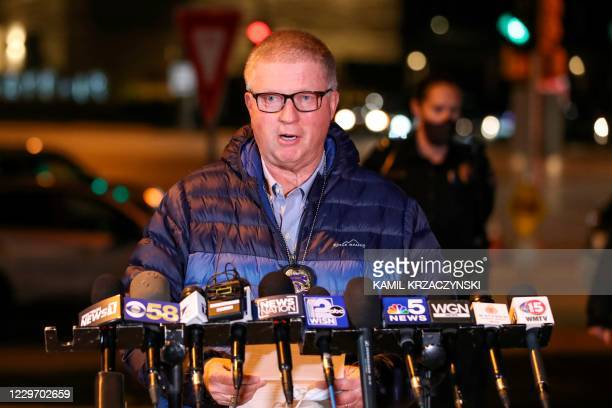 Wauwatosa Police Chief Barry Weber provides an update on a shooting that took place at Mayfair Mall in Wauwatosa, Wisconsin, on November 20, 2020. -...