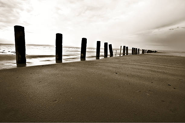 Wave breakers on Norfolk Beach