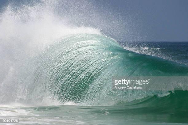 Wave breaking in the Pacific Ocean