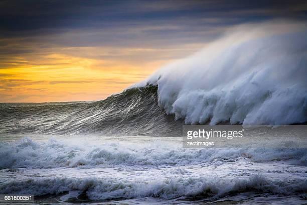 Wave breaking, Kiama, Australia