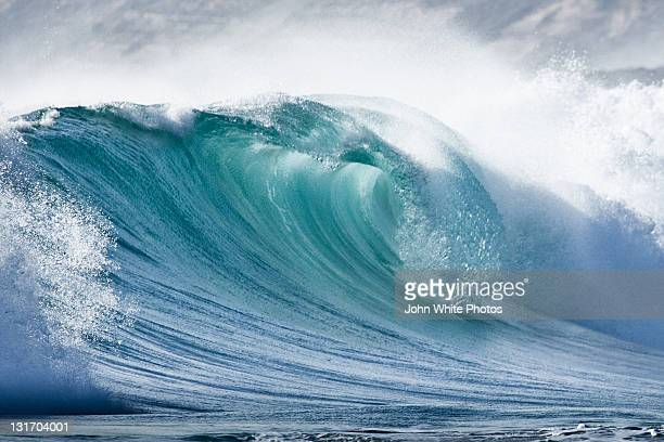 wave in pristine ocean - vague photos et images de collection