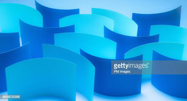 Wave of blue paper