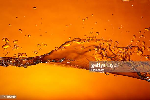 wave orange - oranje stockfoto's en -beelden