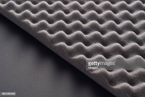 wave pattern accoustic foam - acoustic music stock pictures, royalty-free photos & images