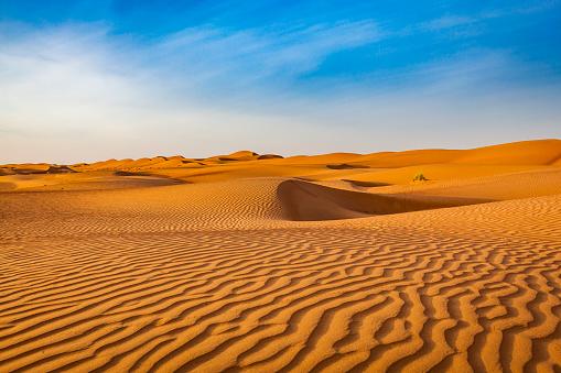 wave pattern desert landscape, oman 886145780
