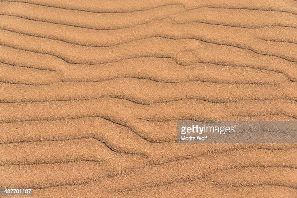 Wave pattern in the sand, Sossusvlei, Namib-Naukluft National Park, Namibia
