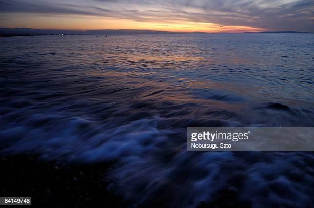 wave? - hokuriku region stock photos and pictures