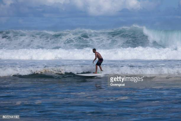 Wave rider in Reunion Island