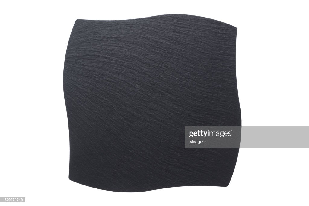 wave shape black stone tray plate on white stock photo getty images