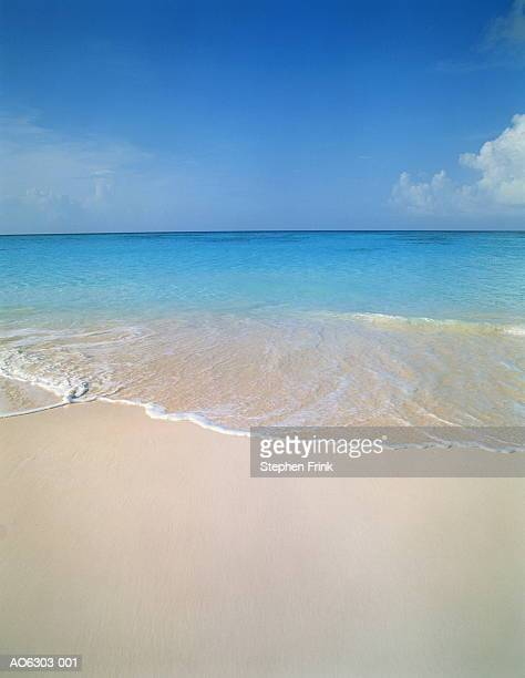 Wave washing onto beach, Cape Santa Maria, Long Island, Bahamas