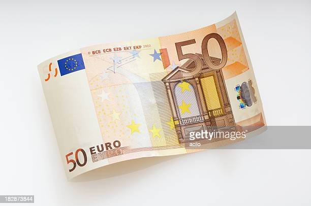 Waved fifty Euro note