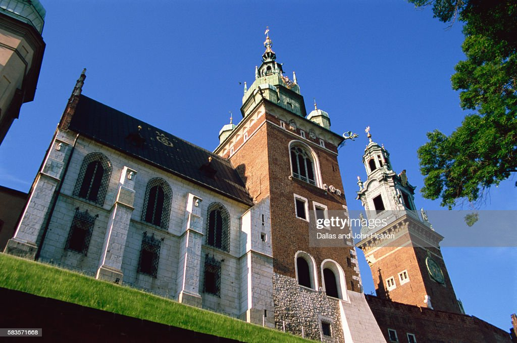 Wavel Hill, Royal Castle, Old Town, Krakow, Poland : Stock Photo