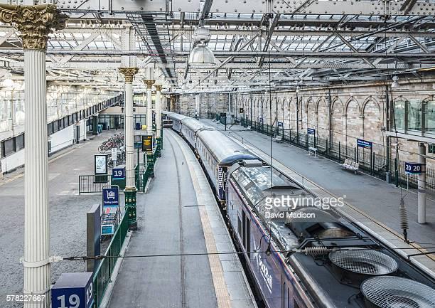 waverley railway station, edinburgh - railway station stock pictures, royalty-free photos & images