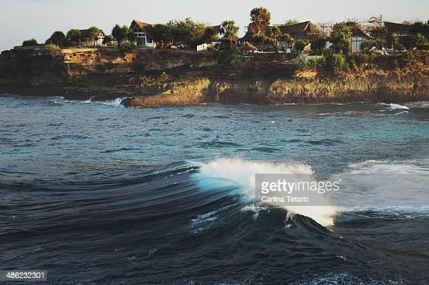 Waves at a Lembongan Island Village