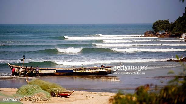 Waves at Gomoa Fetteh beach
