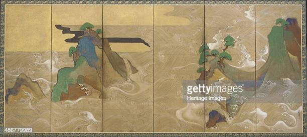 Waves at Matsushima Early 17th cen Artist Sotatsu Tawaraya