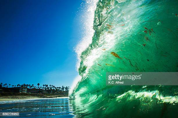 waves break on a fall day at windansea beach in the la jolla section of san diego, california. - la jolla stock pictures, royalty-free photos & images