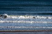 waves breaking north sea at sunderland