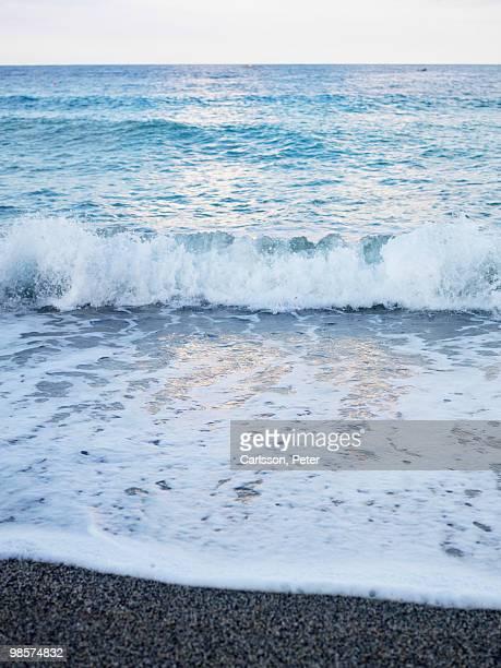Waves by beach, Turkey.