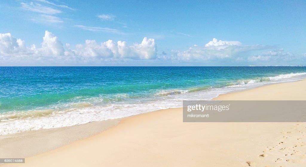 Waves Crashing At The Beach Praia De Faro Faro Portugal Stock Photo