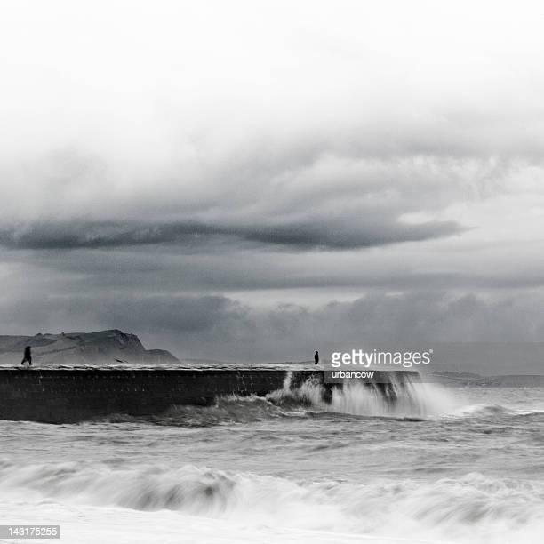 Waves crashing on The Cobb