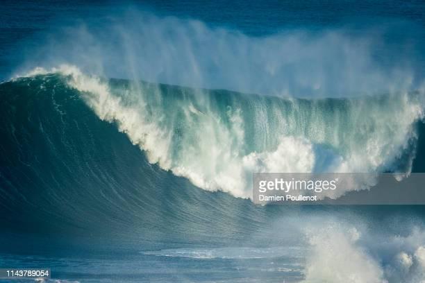 Waves during Round 1 at the Nazaré Challenge 2018