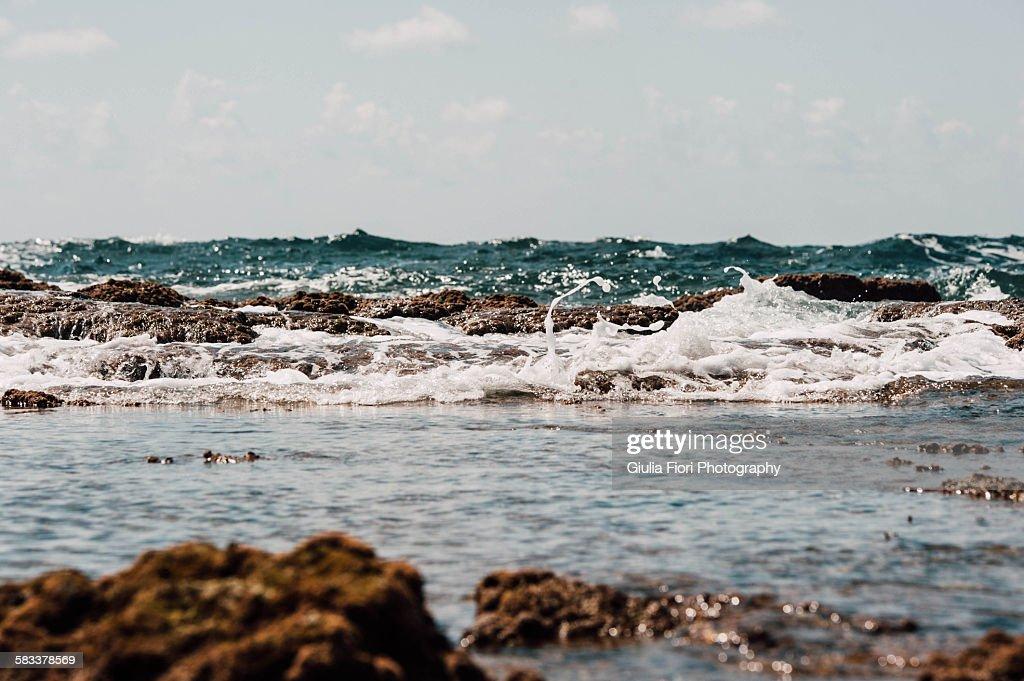 Waves in Caesarea, Israel : Stock Photo