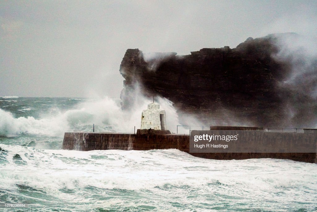 Storm Alex Continues To Lash Cornish Coast : News Photo