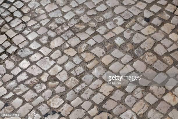 waves of tiled floor in portuguese traditional style - cultura portuguesa foto e immagini stock