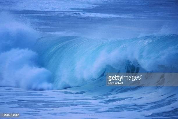waves of waimea bay - waimea bay - fotografias e filmes do acervo