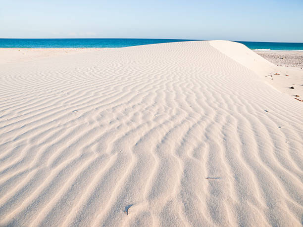 Waves of white sand