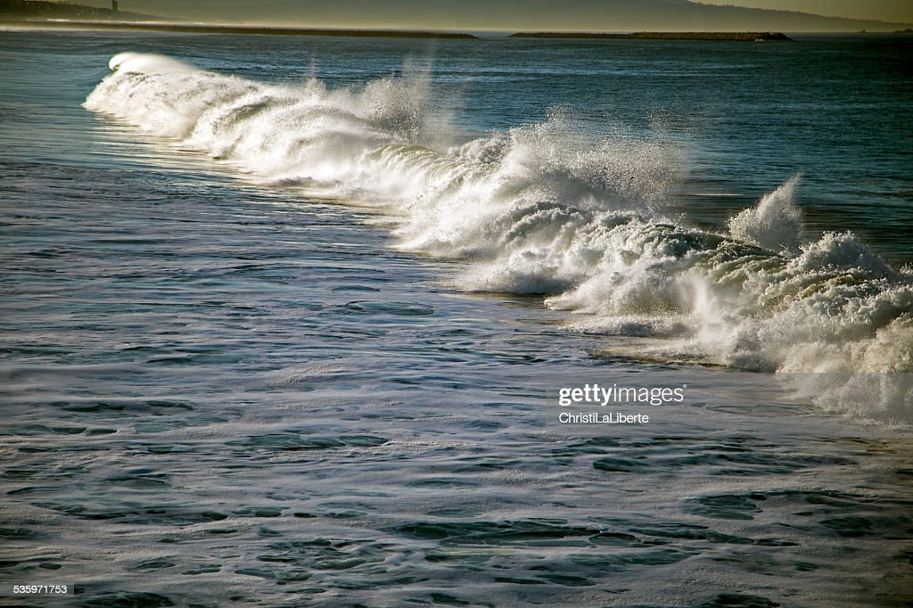 Waves on a windy day : Stock Photo