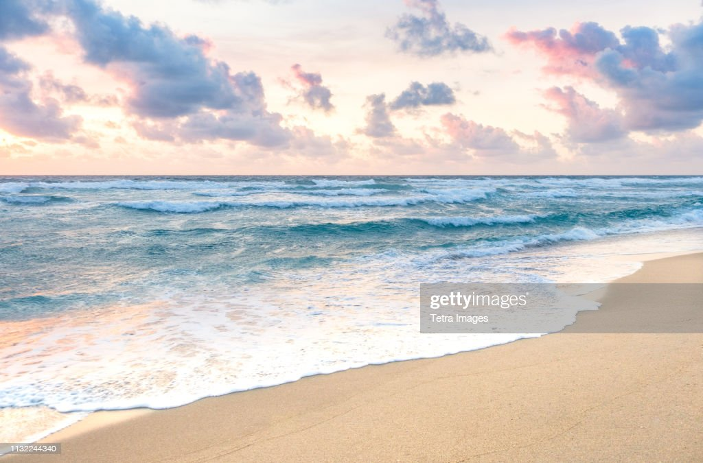 Waves on beach in Boca Raton, Florida : Stock Photo