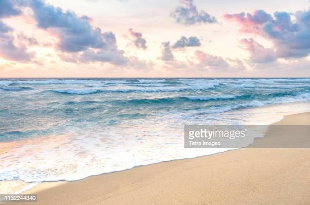 waves on beach in boca raton, florida - フロリダ州 ストックフォトと画像