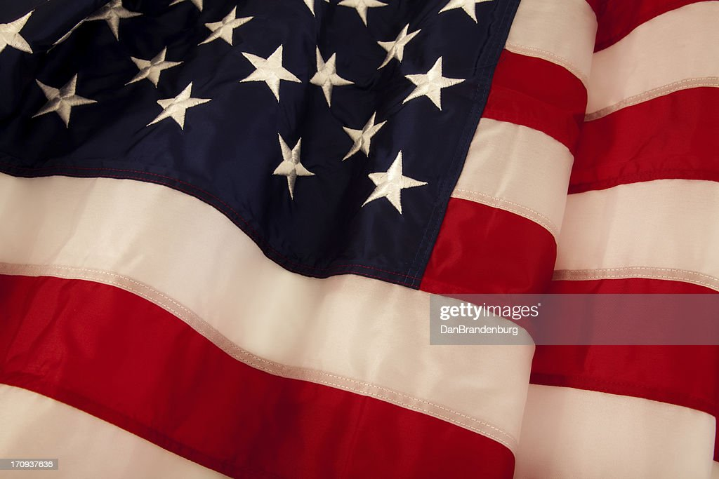 Waving American Flag : Stock Photo