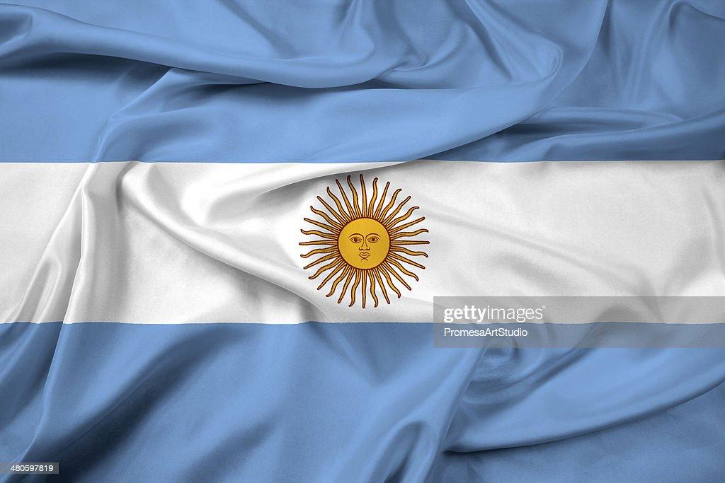 Waving Argentina Flag : Stock Photo