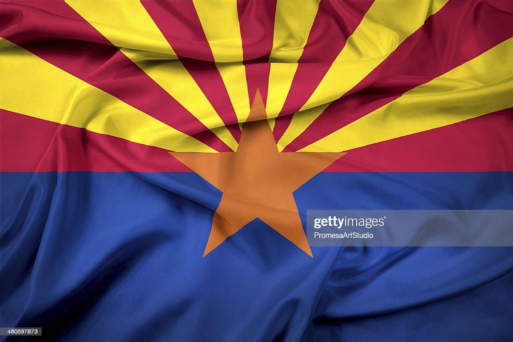 Waving Arizona State Flag : Stock Photo