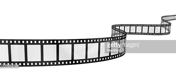wavy filmstrip - film stock pictures, royalty-free photos & images