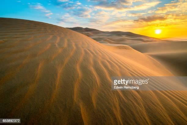Wavy patterns in sand
