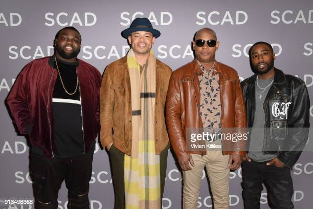 Wavyy Jonez Anthony Hemingway Bokeem Woodbine and Marcc Rose attend a press junket for 'Unsolved The Murders of Tupac and The Notorious BIG' on Day 2...