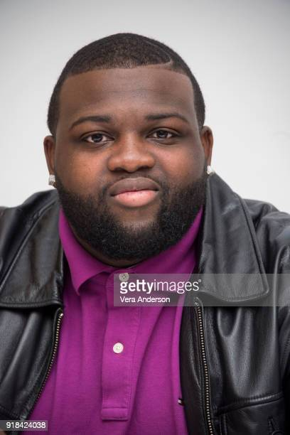 Wavyy Jonez at the 'Unsolved The Murders of Tupac and the Notorious BIG' Press Conference at the Four Seasons Hotel on February 12 2018 in Beverly...