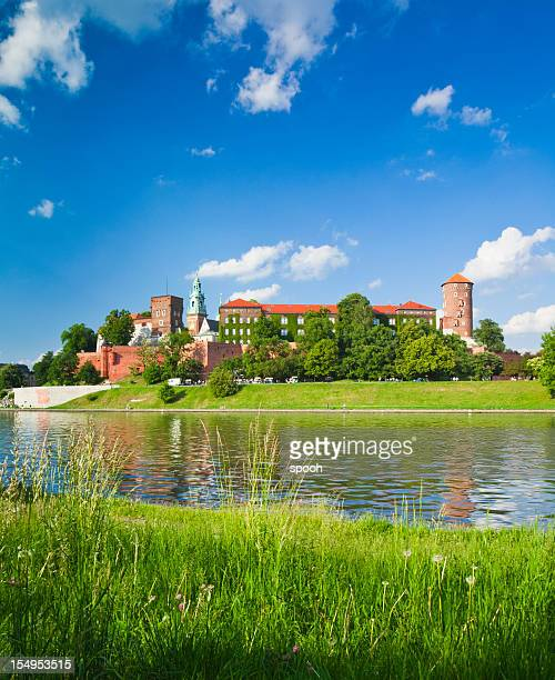 Wawel Castle and Vistula river in Krakow, Poland