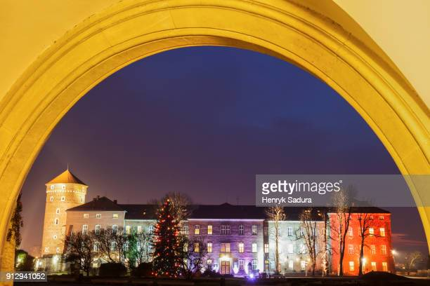 Wawel Castle during Christmas