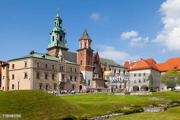 wawel cathedral in krakow - gwengoat stock pictures, royalty-free photos & images
